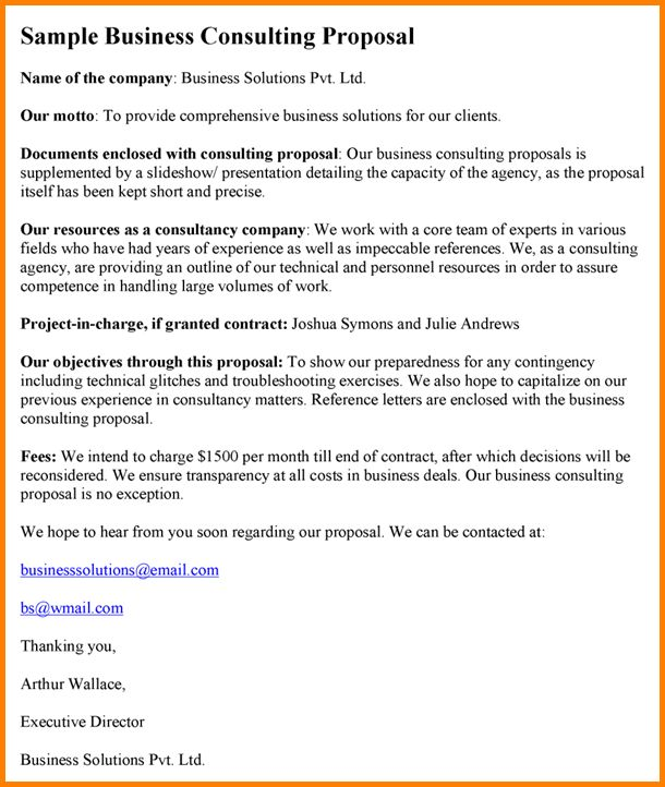 business consulting proposal template nodecvresume