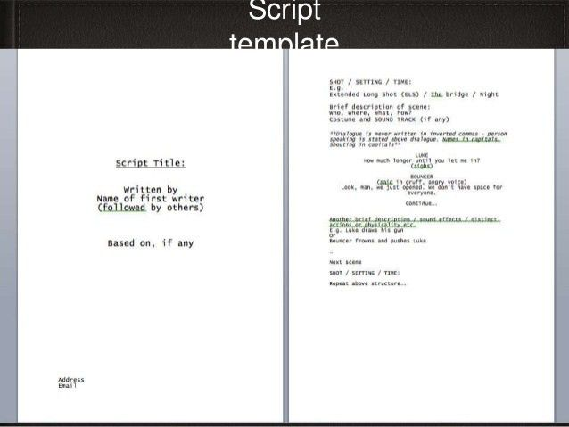 Movie Script Template How To Format A Screenplay Learning The - sample script storyboard