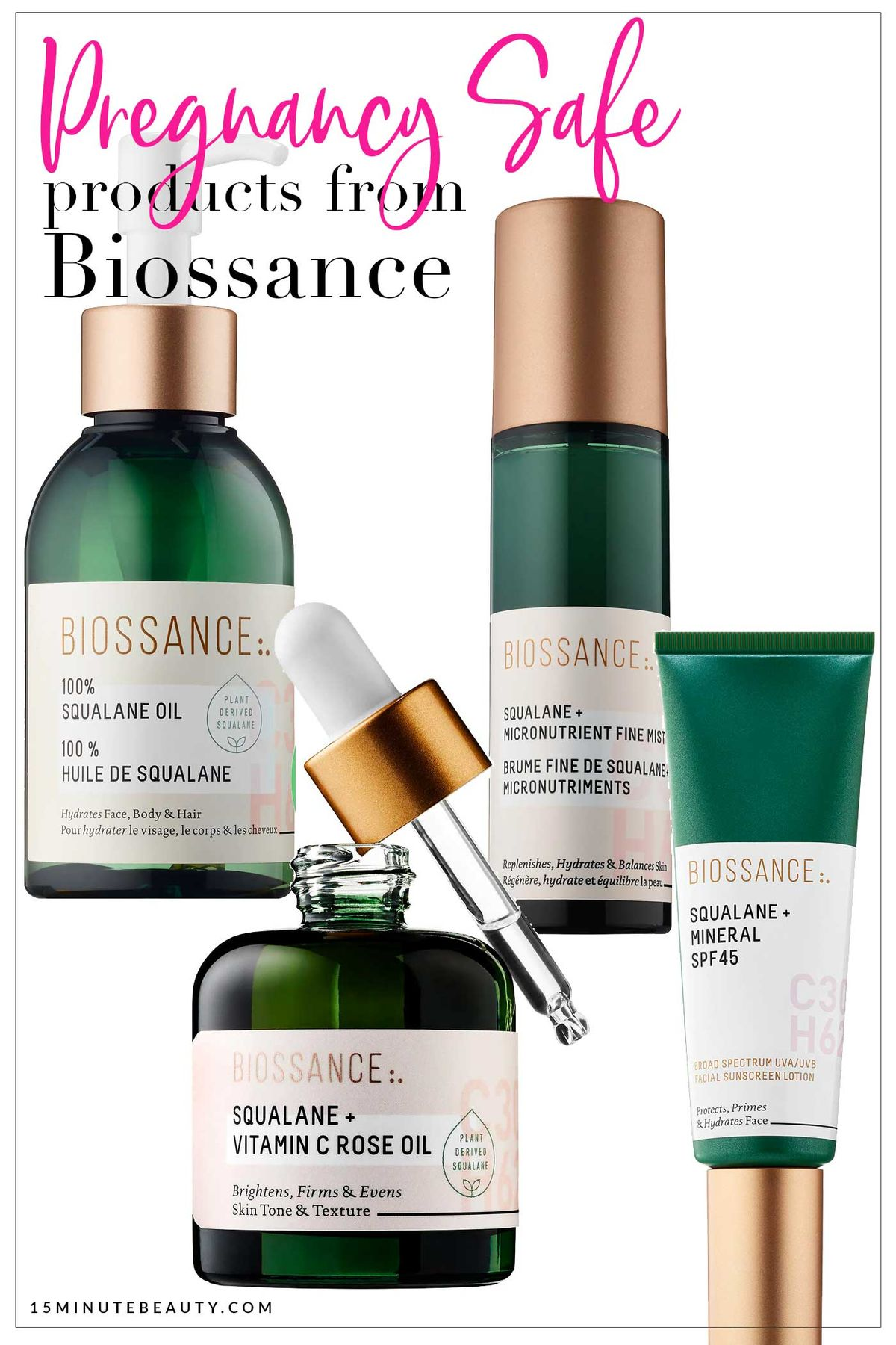 Pregnancy safe pregnancy skincare products from Biossance