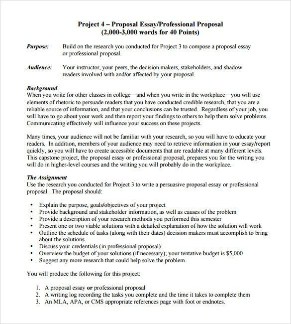 Professional Proposal Template Sample Professional Proposal - professional proposal template