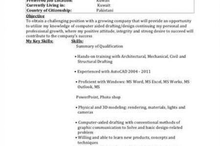 Architectural Drafter Resume] Drafter Resume Template 7 Free ...