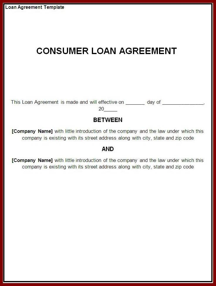 Basic Loan Agreement 5 Loan Agreement Templates To Write Perfect - loan contract sample