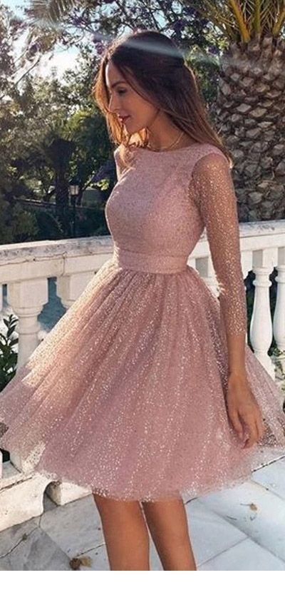Sweet beige glitter dress