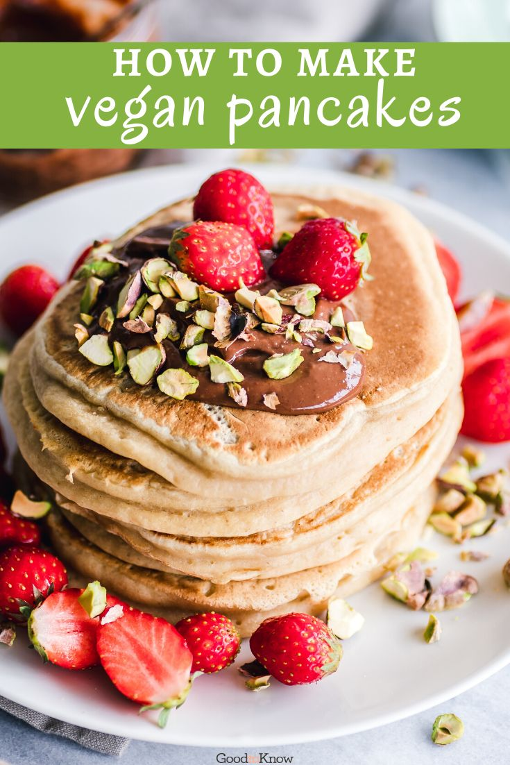 Delicious vegan pancake recipes to try on Shrove Tuesday. These vegan pancake recipes will take your old favourites and give them a twist – with all the things you love about traditional pancakes. From savoury hoisin jackfruit to salted caramel, if you're looking for a vegan alternative to classic pancakes, why not start here? These vegan pancake recipes will be loved by vegans and non-vegans alike. #veganpancakes #veganpancakesrecipe #veganpancakeseasy #veganpancakesbanana