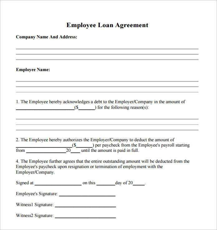 Loan Forms Template 5 Loan Agreement Templates To Write Perfect - loan form template