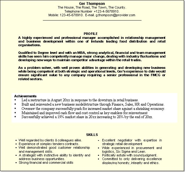 resume personal profile examples resume personal statement resume