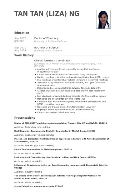 Research Resume Samples Researcher Cv Template Job Description - clinical research resume