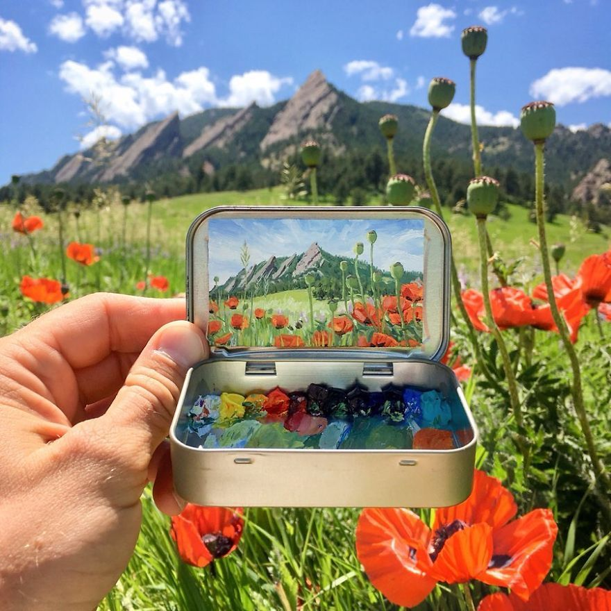 This Artist Moves Breathtaking Land And Cityscapes Into Tiny Mint Tins (99 Pics)