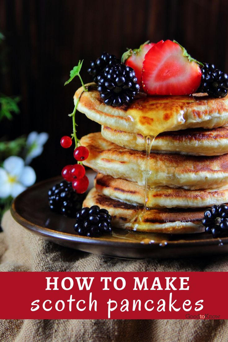Scotch pancakes make a great brunch breakfast. Just toss on some blueberries and maple syrup for the all-American experience for a deliciously good start to the day. This recipe makes 12 delicious Scotch pancakes and will take only 35 mins to prepare and cook.  Perfect for pancake day or a fun brunch on Saturdays. #scotchpancakes #howtomakescotchpancakes #scotchpancakesrecipe #pancakeday #pancakedayrecipe #brunchideas #quickbrunchrecipes