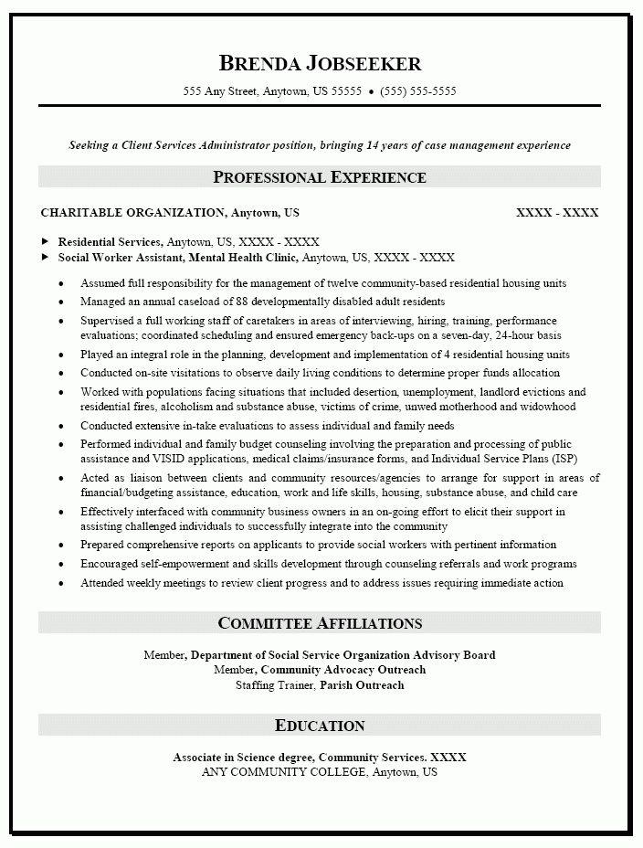 sample social work resume case worker resume samples social work