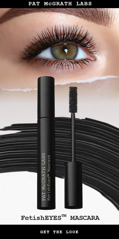 PAT McGRATH LABS FetishEYES™ Mascara. | This iconic formulation works overtime to impart fetish-worthy length, major lift, and maximum volume in one stroke. Bold, buildable and intensely black, each stroke wraps lashes from root to tip in saturated satin shine. Conditioning peptides strengthen and defends lashes from free radical damage, while panthenol hydrates for long lashes that stay luxuriously soft to the touch. | Best lengthening and thickening mascaras. | Shop Now at PATMcGRATH.COM