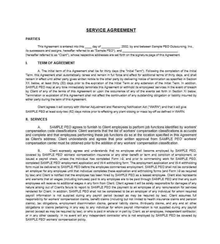 Sample Cleaning Service Agreement Cleaning Contract Template 27 - sample master service agreement