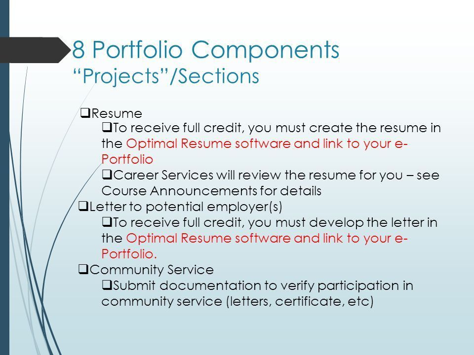 Optimal Resume Kaplan College. resumes and eportfolios in ...