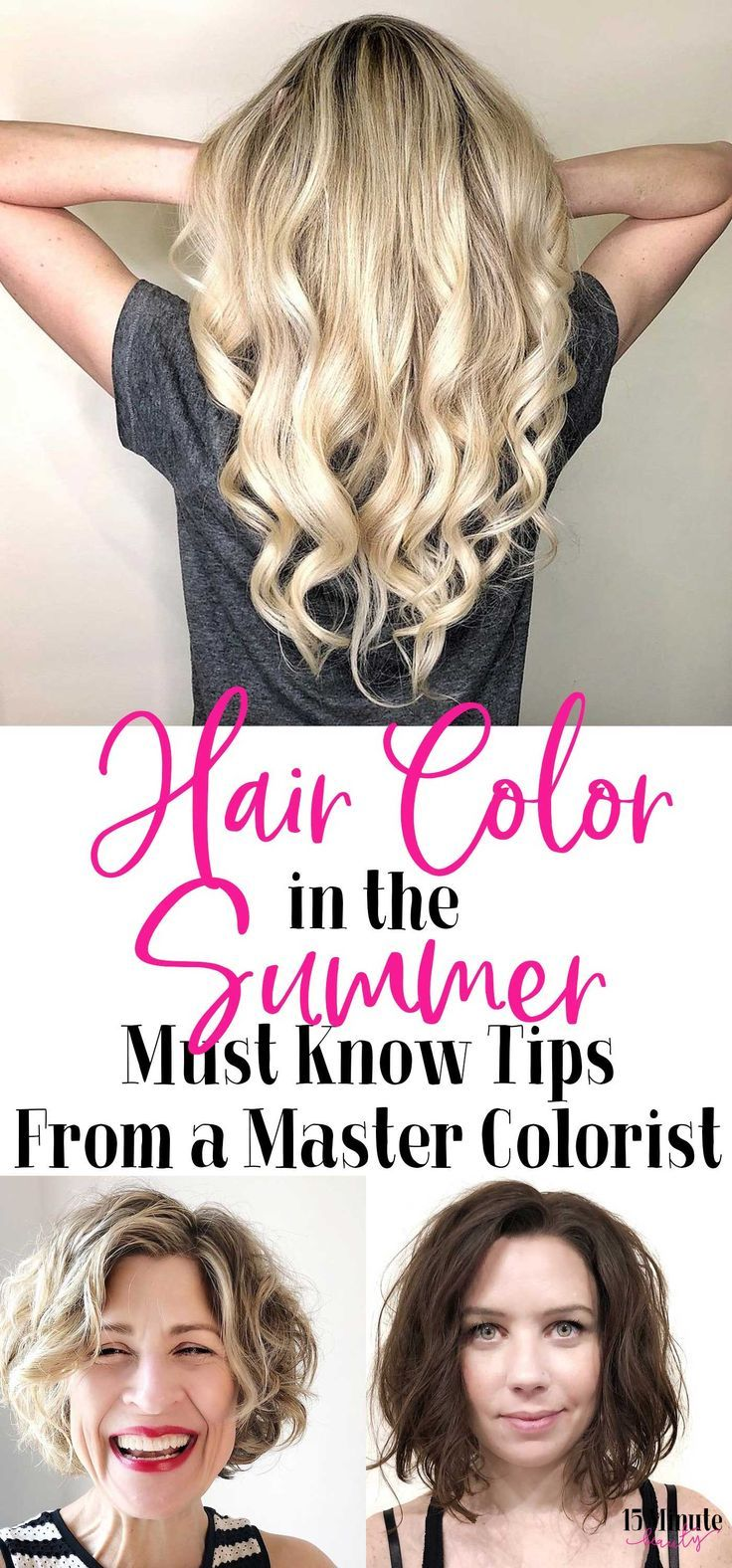 It can be really hard to keep your hair color looking amazing in the summer, the sun, pool water or saltwater can really fade and alter your color. These tips from a master hair colorist will keep your hair color looking amazing!