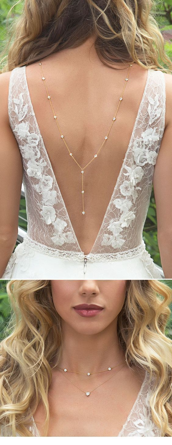 Nice back necklace for wedding