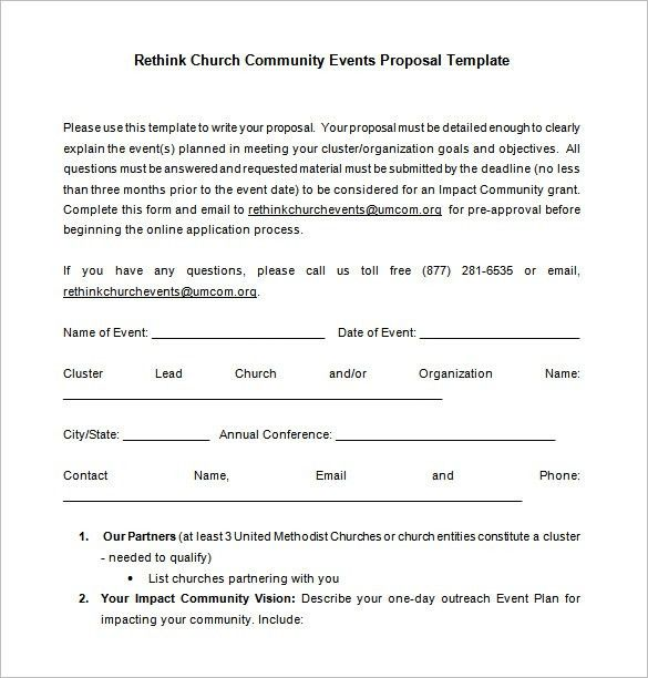 Event Proposal Format Sample Event Proposal Template 21 Free - proposal email format