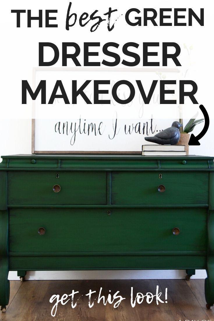 The Best Green Dresser Makeover