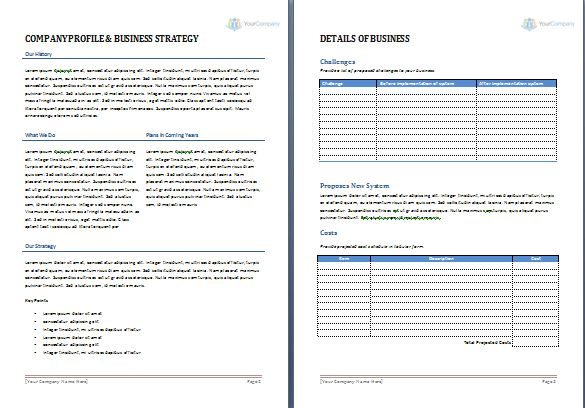 Word Proposal Template 20 Free Proposal Templates Microsoft Word - proposal template in word