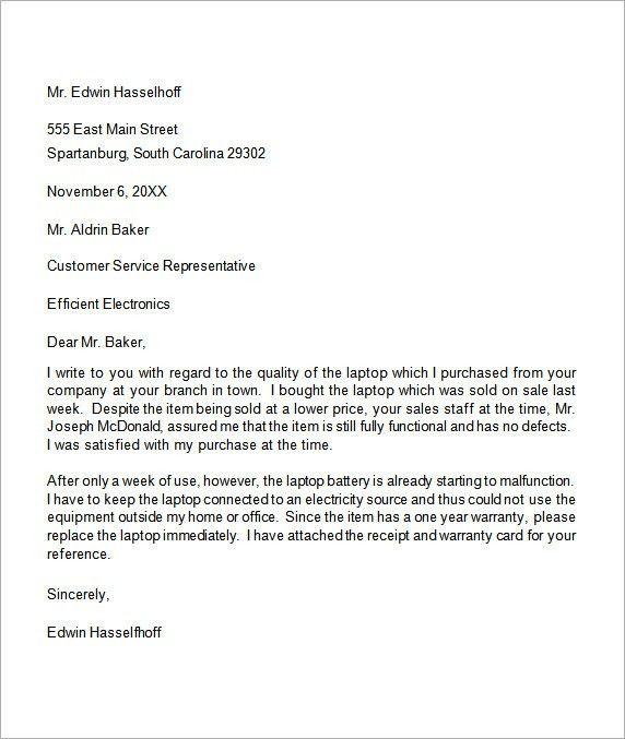 Example plaint Letter] 12 plaint Letter Templates Free
