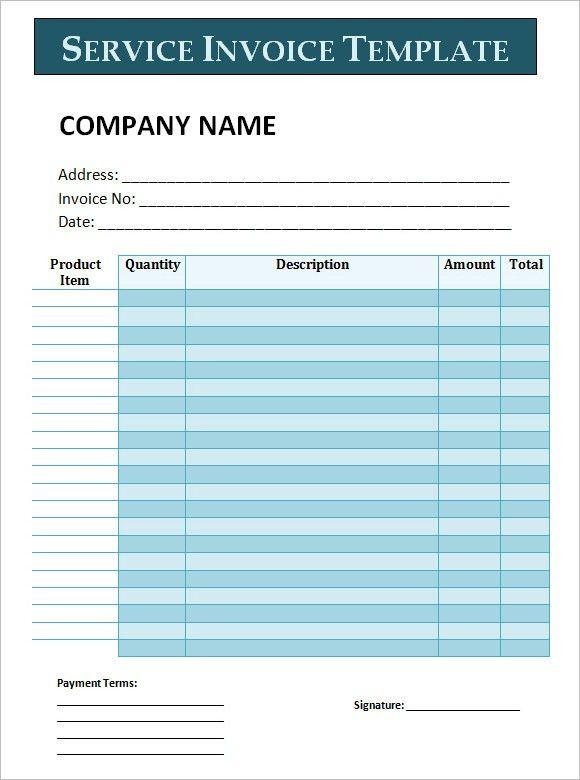 Service Invoice Sample Free Service Invoice Template For - sample freelance invoice