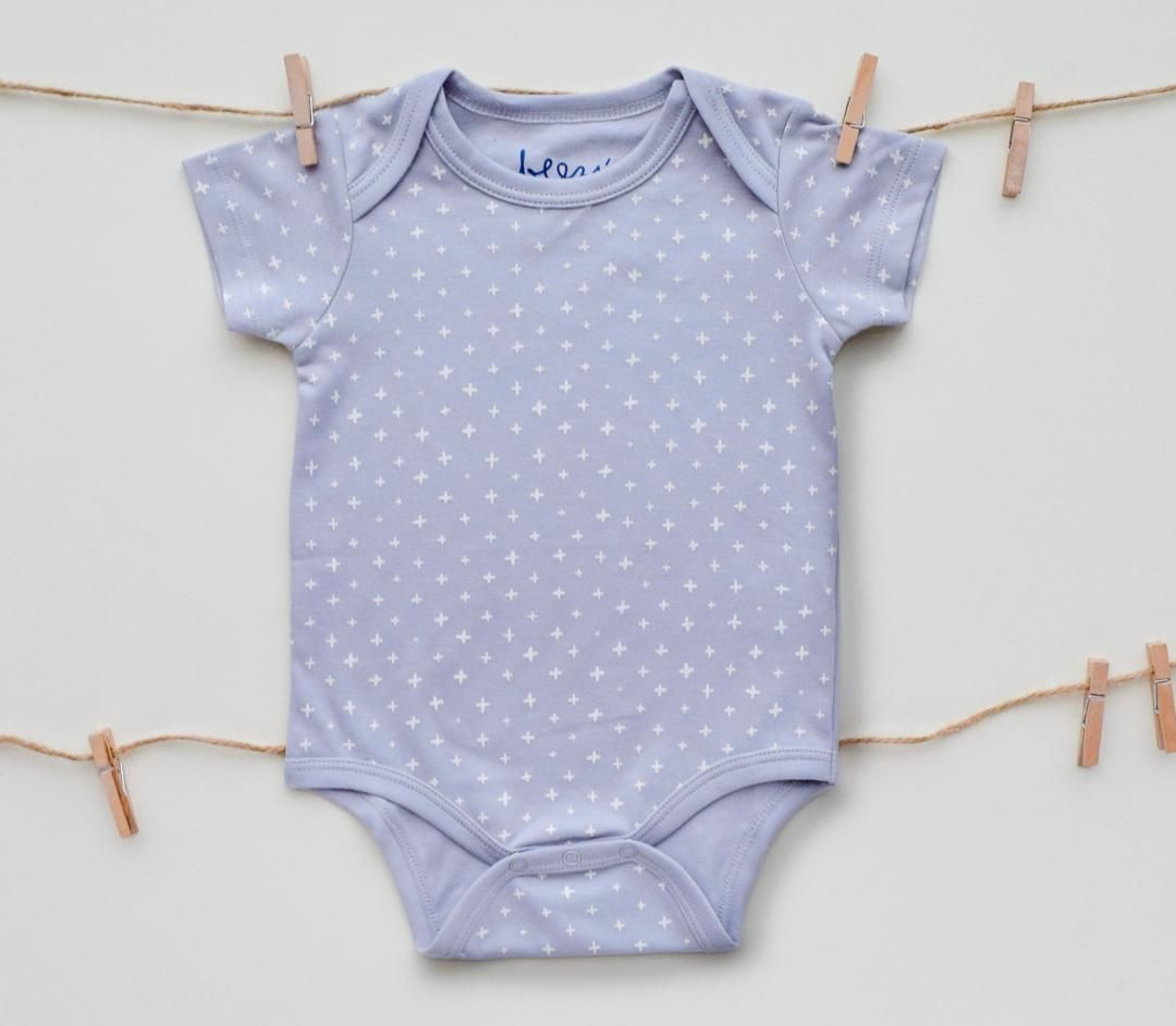 Criss-Cross Grey Short Sleeve Onesie | premium quality and affordable prices , durable and fresh pima cotton