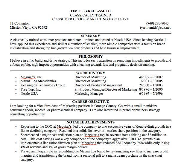 Resume Impact Statement Examples - Examples of Resumes