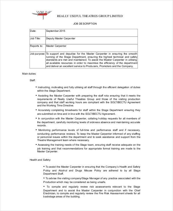 Duties Of A Carpenter Construction Services Carpentry And The - carpenter invoice template