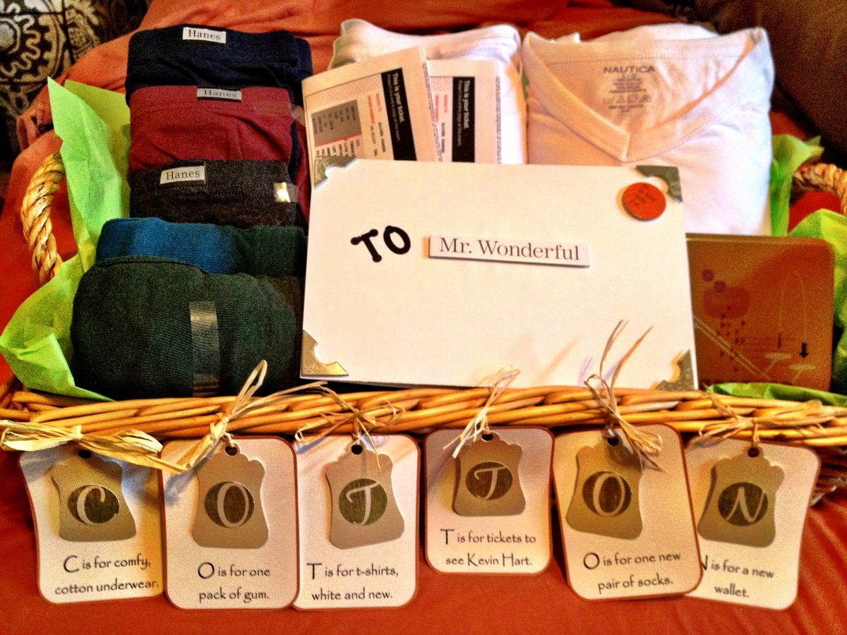 Second Wedding Anniversary Gifts For Men: Cotton Wedding Anniversary. Pinched A Fab Idea From