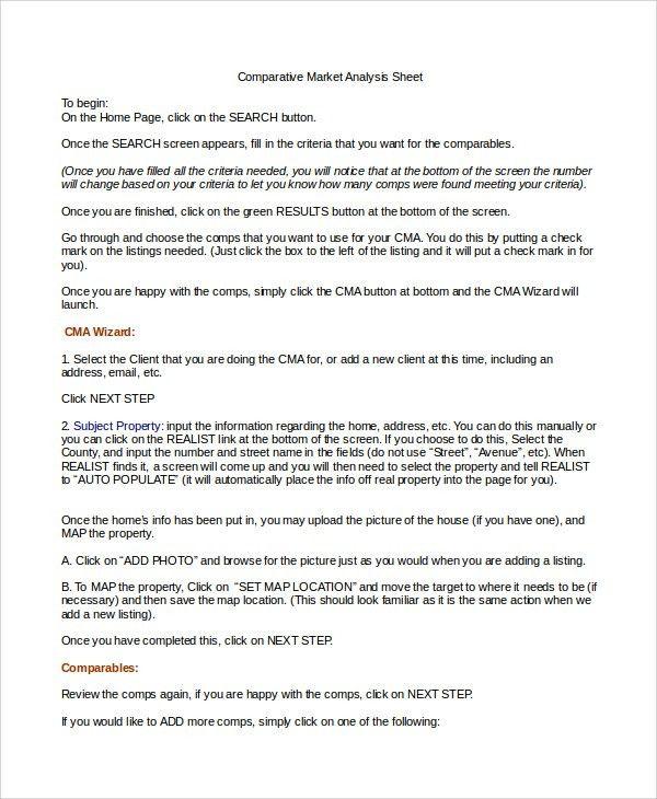 Market Analysis Example Sample Market Analysis 7 Documents In Pdf - competitive market analysis
