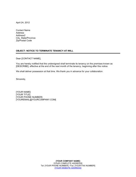 Sample Letter Of Lease Termination Lease Termination Letter - lease termination form