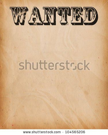 Powerpoint Wanted Poster Template