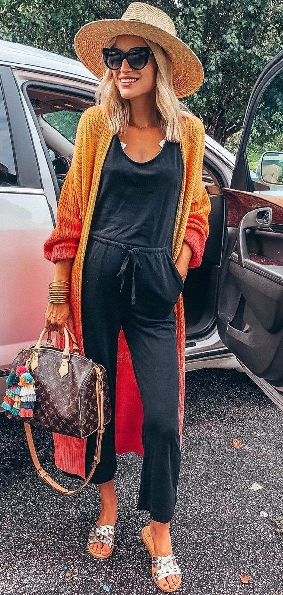 black jumpsuit #summer #outfits