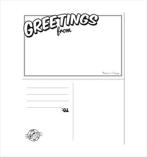 Postcard Template For Kids Postcard Template 25 Download - sample easter postcard template