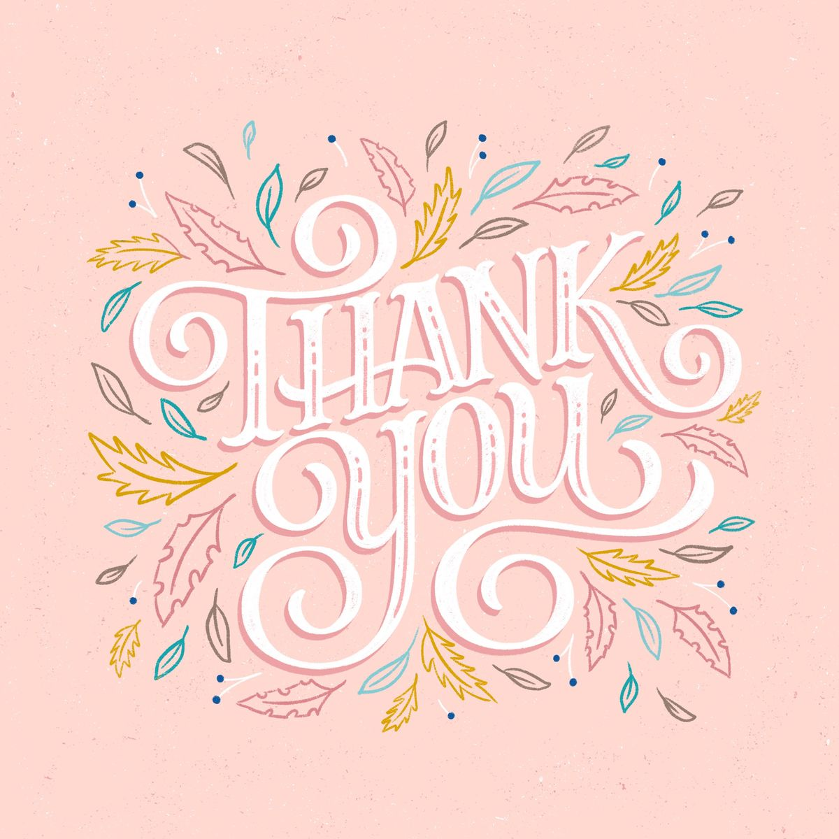 Hand-lettered Thank You