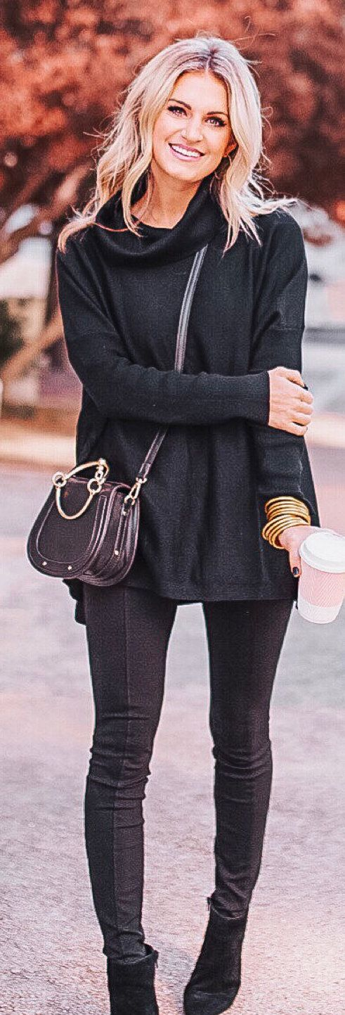 black long-sleeved shirt
