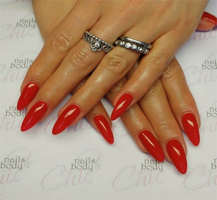 30+Pretty Red Acrylic Nail Art Design Ideas – Fashonails