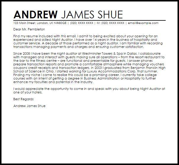 front desk night auditor cover letter | node2003-cvresume ...