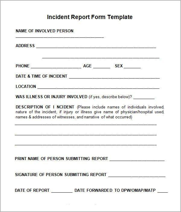 free incident report form template word | node2002-cvresume ...