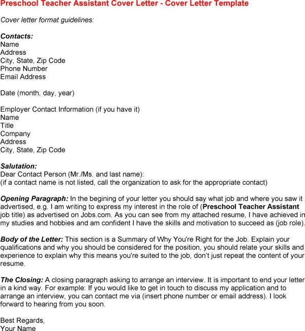 Child Care Assistant Cover Letter. Child Care Termination Letter