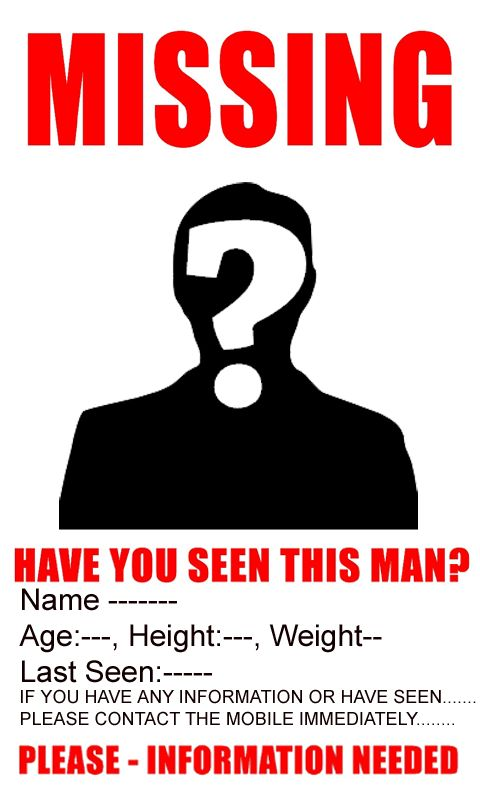 missing person poster template - Ozilalmanoof