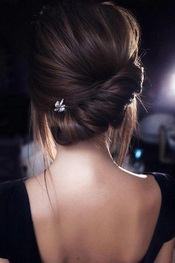 messy updo low bun wedding hairstyle from Tonyastylist #weddings #weddingupdos #weddinghairstyles #hairstyles #weddingideas