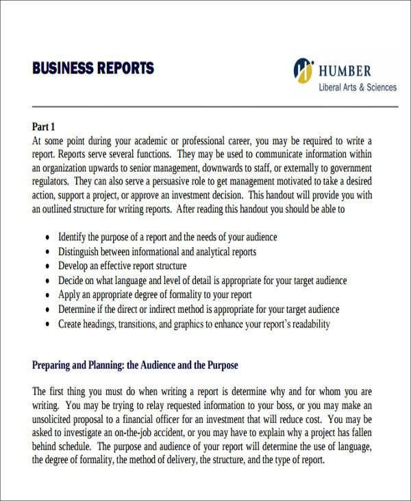 Sample Business Report Template 17 Business Report Templates Free - sample company report