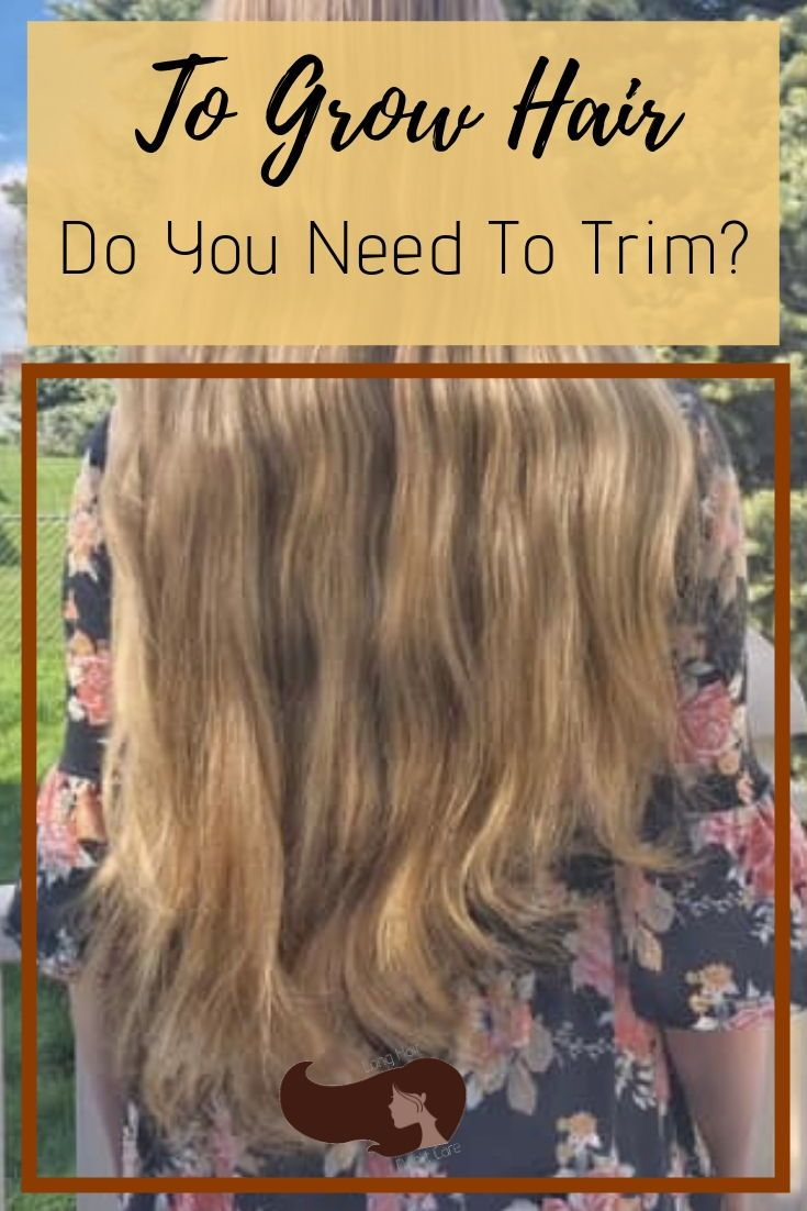 If you want to grow your hair long, do you need to trim it regularly? #longhair #hairgrowth