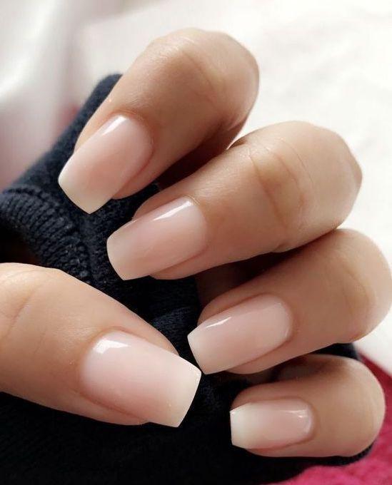 Wonderful light pink nail polish