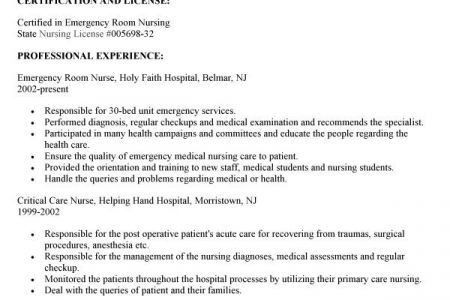 Emergency Room Nurse Sample Resume] Er Nurse Resume Example ...