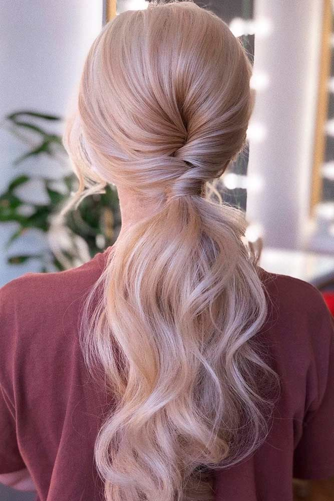 Low Ponytail For Long Hair #longhair #blondehair ★ Discover trendy easy summer hairstyles 2019 here. We have pretty ideas for long, short, and for medium hair. #glaminati #lifestyle #summerhairstyles