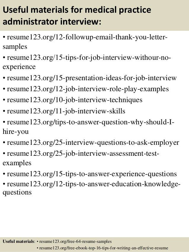 practice manager resume