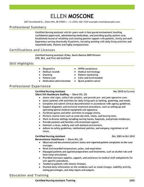 Entry Level Nursing Assistant Resume Professional Entry Level - nursing assistant resume