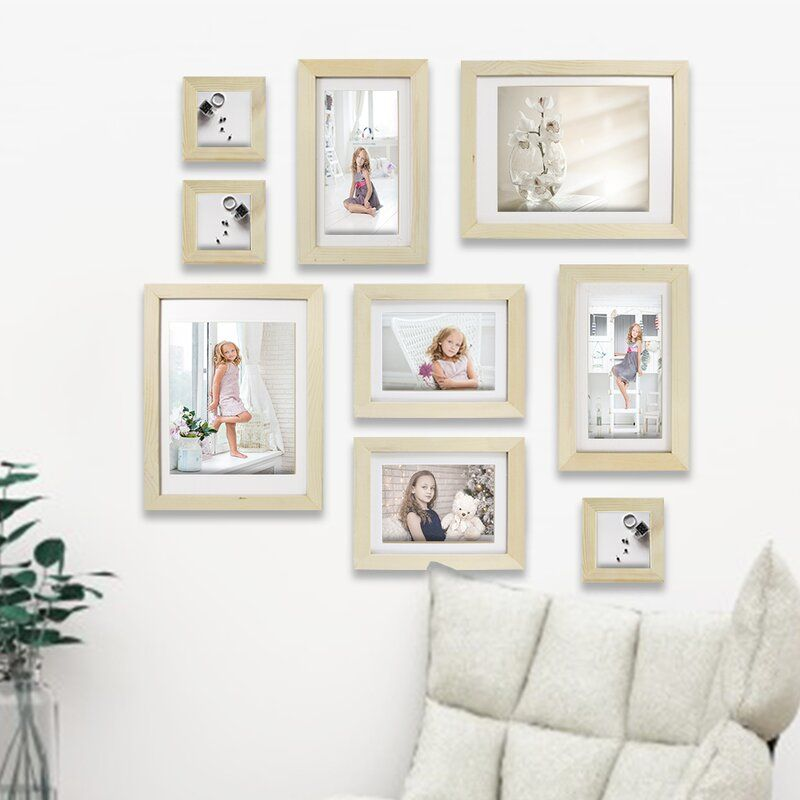 9 Piece Renfrow Fall Gallery Collage Picture Frame Set