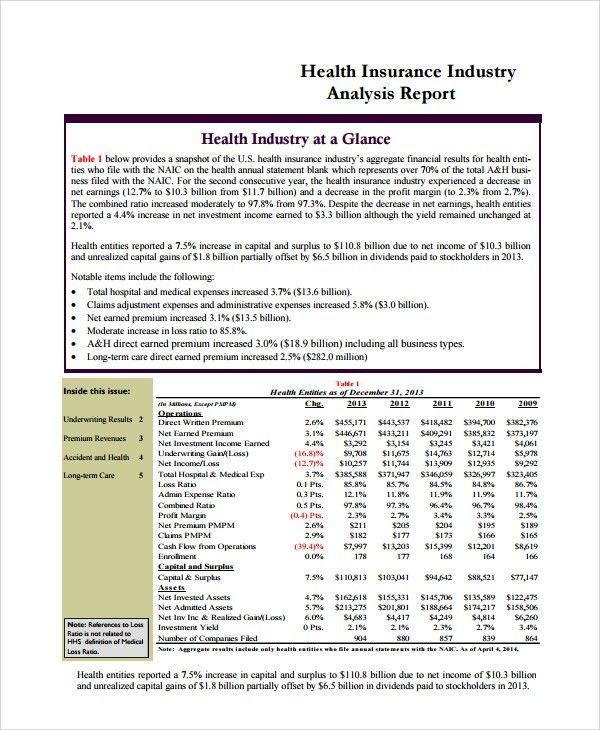 Analysis Report Template Data Analysis Report Templates 5 Free - analysis report template